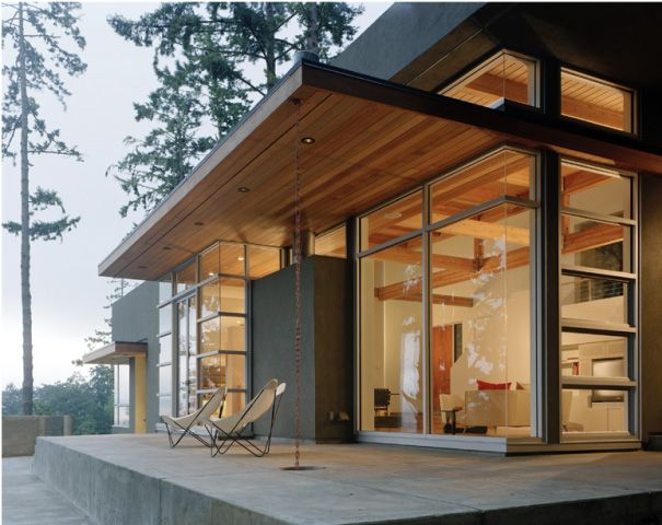 Hillside and view lot modern home plans lot house plans for Modern hillside home designs