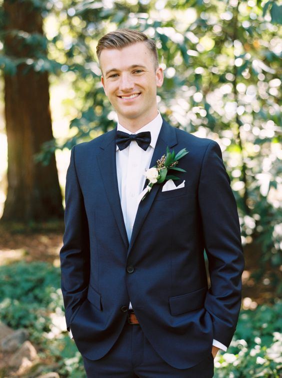 navy suit groom http://itgirlweddings.com/a-wedding-dream-brought ...