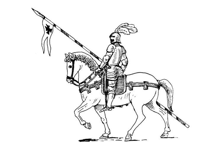 kleurplaat ridder te paard kleurplaten ridders paarden