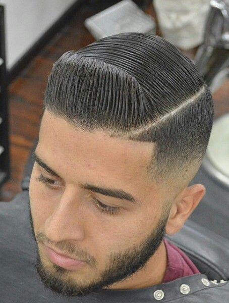 Textured Low Fades With Shaved Part Fade Haircut Low