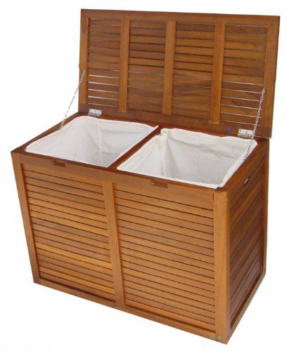 Today Solid Teak Double Laundry Hamper Order Now Ahsap Isleri
