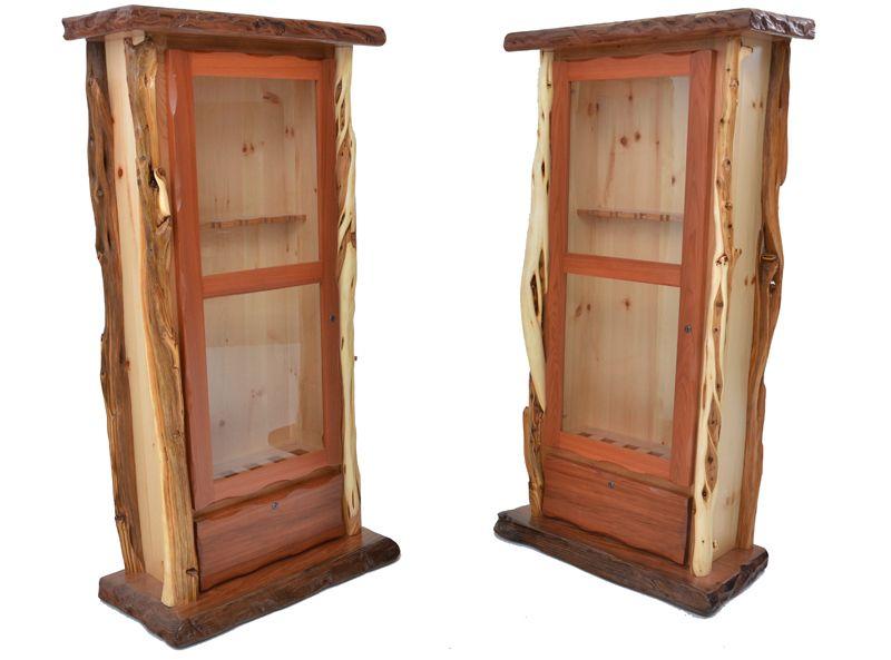 Rustic Redwood and Juniper Gun Cabinets | Southwestern, Rustic ...