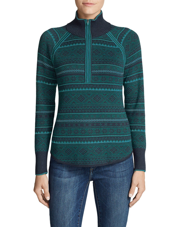 20f7510e41dfa Women s Engage Fair Isle 1 4-Zip Sweater