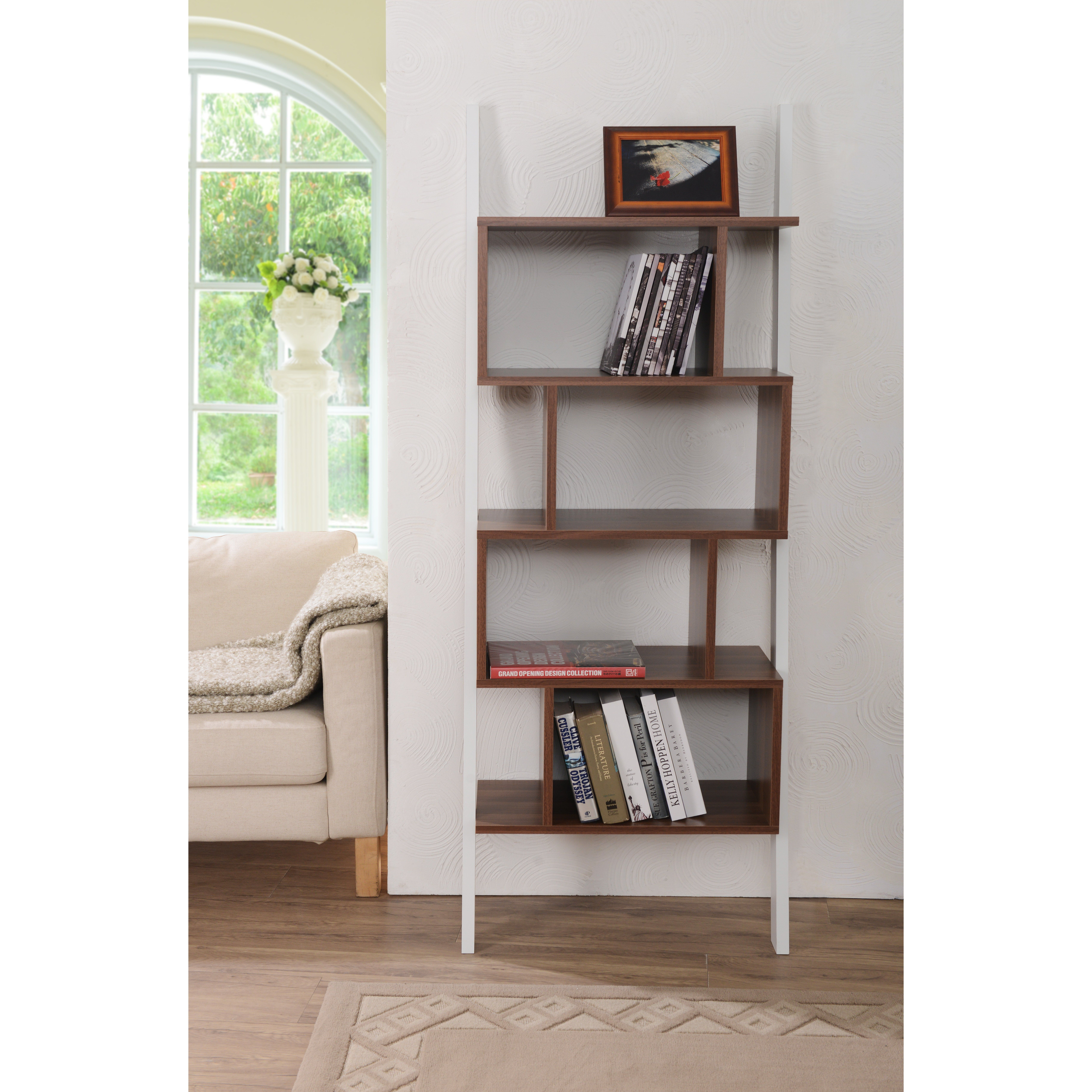 white shelving wooden with furniture small bookshelf drawers leaning tall shelf ladder bookcase unit doors large off oak skinny