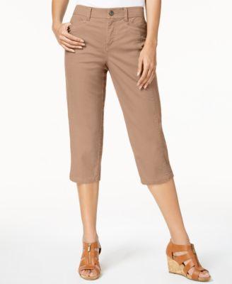 75b65a85a35 Style   Co Split-Hem Capri Pants