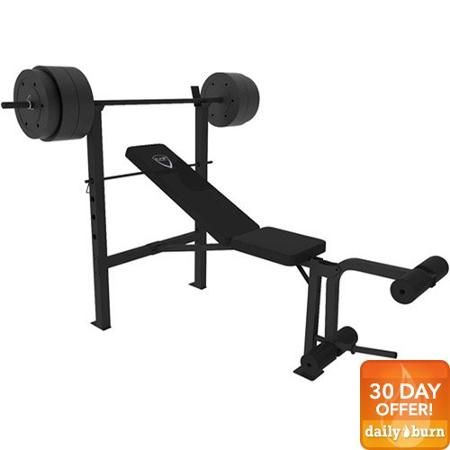 Cap Barbell Deluxe Bench W 100 Pound Weight Set For 75 Barbell Workout Weight Bench Set Bench Workout