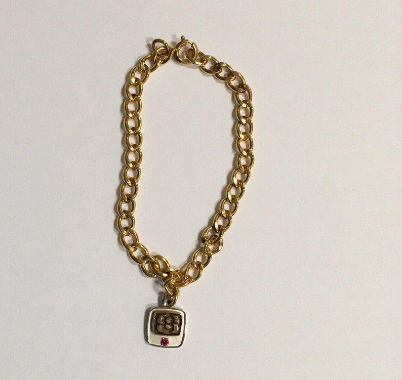 10k Charm Gold Filled Bracelet Chain Link Initial Cto Service Etsy Gold Charm Bracelet Ebay Jewelry Gold Pendant