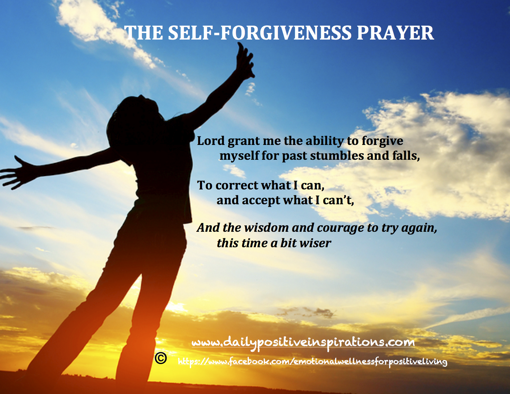 Forgiveness Quotes: Self-Forgiveness Prayer For More Daily Positive