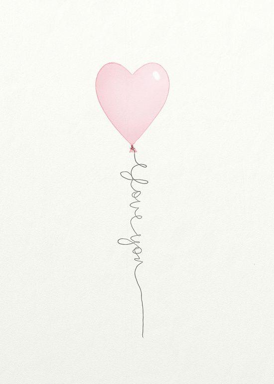 i love you heart print by Tonya Doughty - Society6