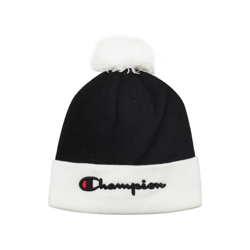 5d493cf80f6 Champ Knit Hat Black and White Winter in 2019