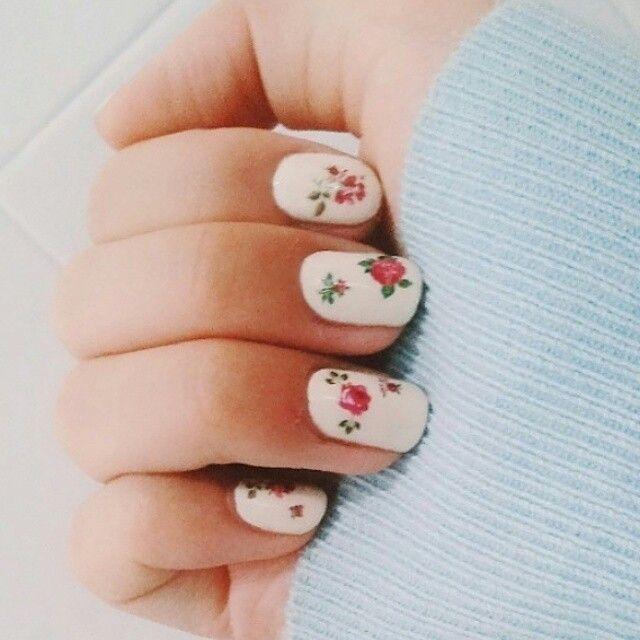Selfnail,셀프네일,꽃네일