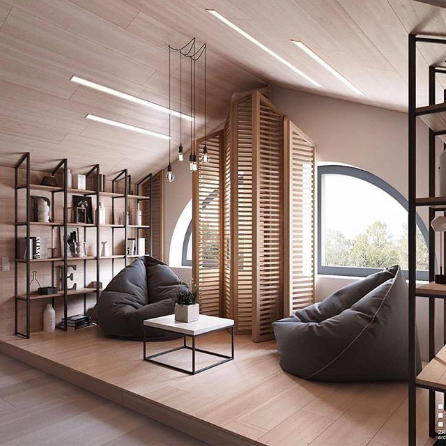 Attic Designed by Zrobym Architects --- #luxury #design #designer #casa #instahome #instadesign #architect #beautiful #home #homedesign #art #architecture #interiordesign #exterior #interior  #lighting #decoration #decor