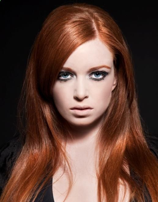 can cool skin tones wear copper red hair  coppery red red hair color is bright rich and can