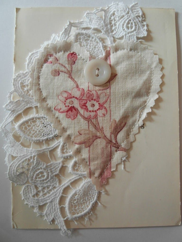 This antique fabric card gives me all sorts of ideas for a pillow