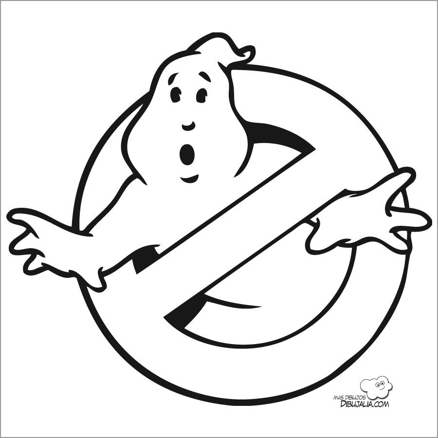 Ghostbusters Logo Coloring Pages Ghostbusters Logo Coloring