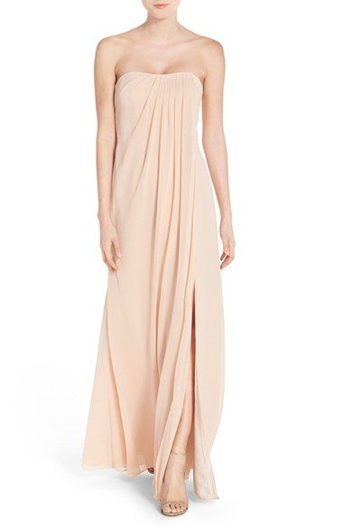 Jenny Yoo Raquel Front Strapless Chiffon Gown Available At Nordstrom