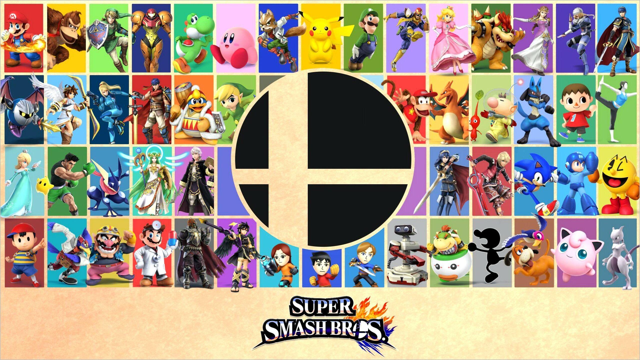 Smash 4k 1440p Wallpaper In 2020 Smash Bros Super Smash Bros Party Super Smash Bros