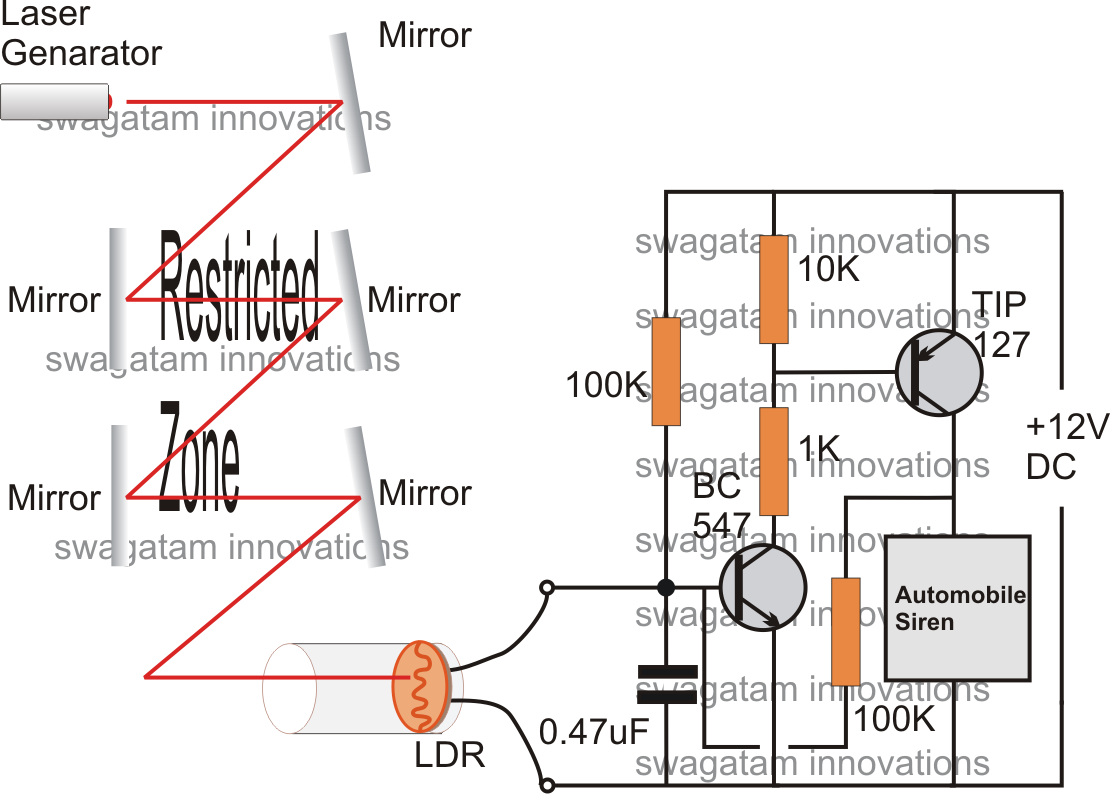 Transistor Alarm Circuits For Beginners Googleda Ara Image Working Of An Ldr In A Circuit