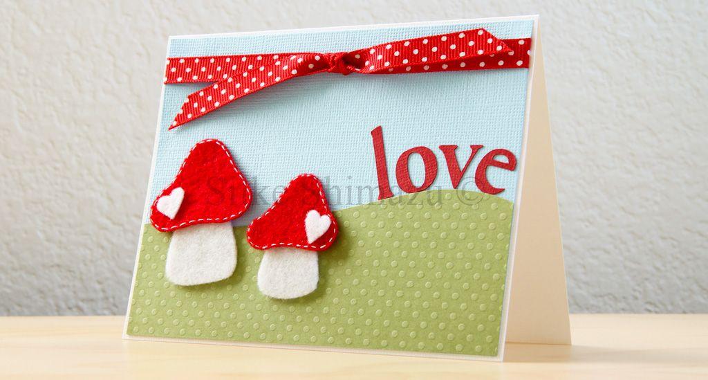 Cute mushroom card cards pinterest mushrooms cricut and
