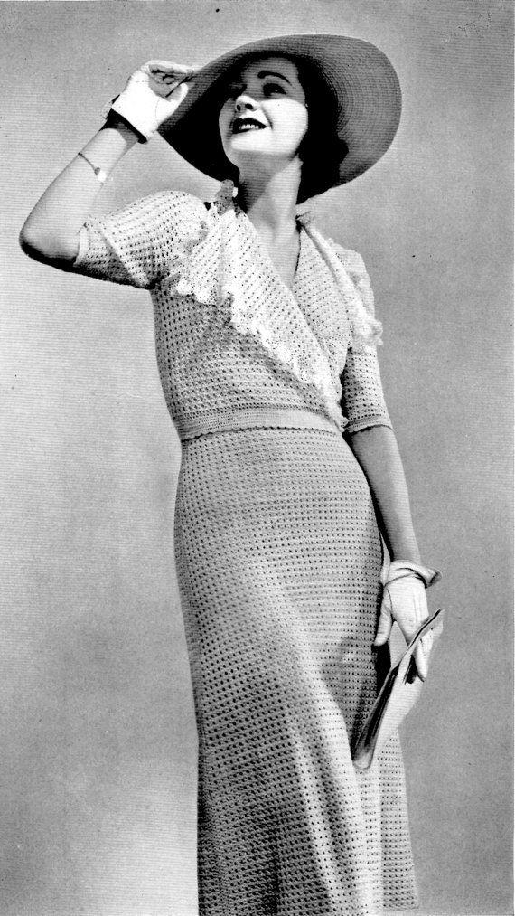 30s Pinehurst Two Piece Frock, Dress Crochet PDF Pattern INSTANT ...