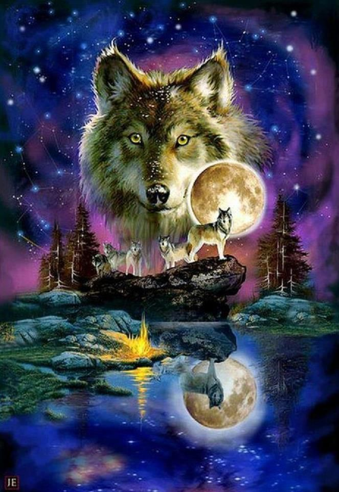 Wolves Fan Art Wolfpack Wolf Wallpaper Wolf Painting Beautiful Wolves