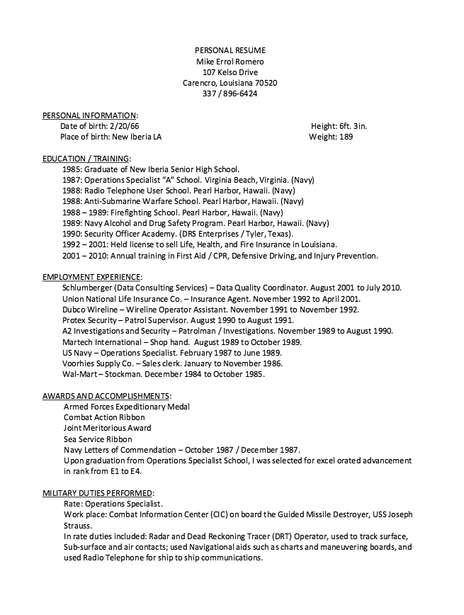 Wireline Operator Resume Sample - http://resumesdesign.com/wireline ...