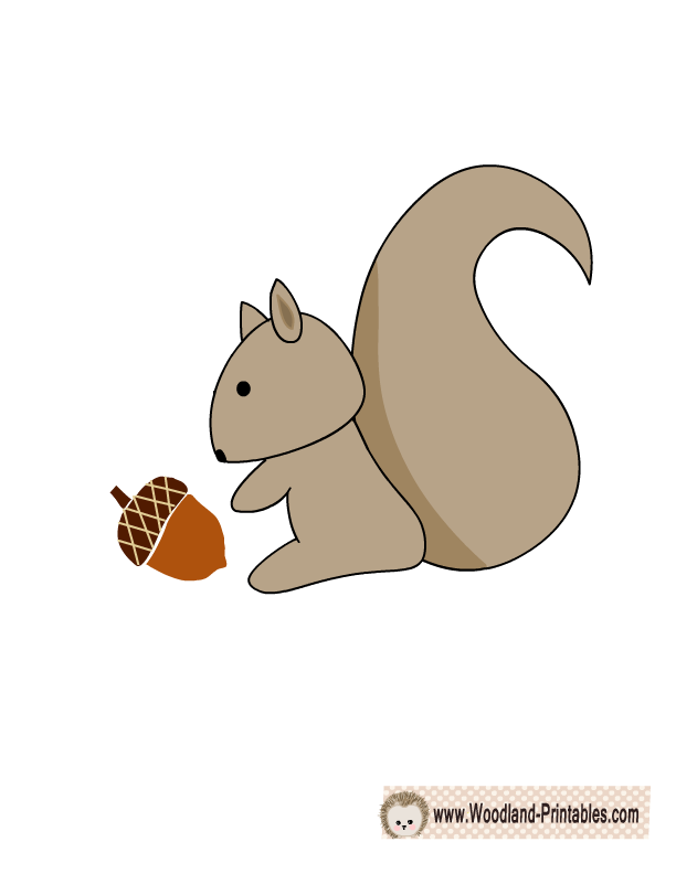 image relating to Printable Squirrel identified as Cost-free Printable Squirrel Wall Sticker kid Wall stickers