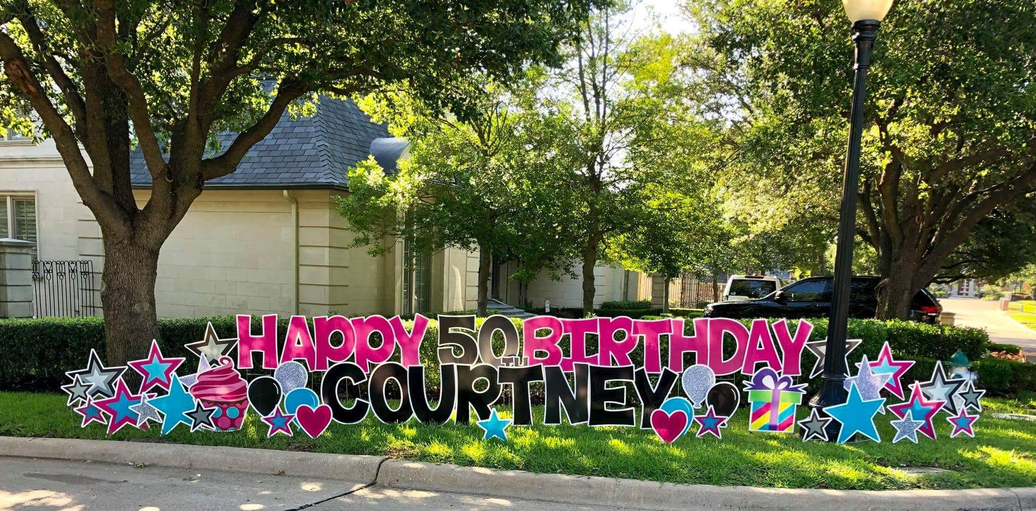 Celebrate big with yard signs from card my yard