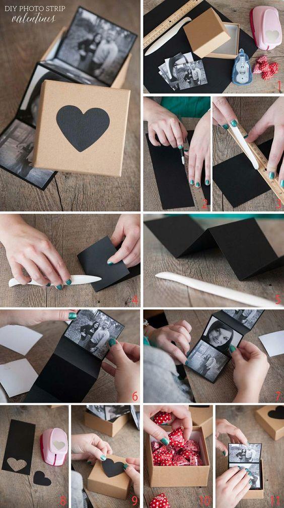 Caja Sorpresa Con Fotos Y Bombones Un Dulce Regalo Para San Valentín Regalo Para Novia Manualidades Manualidades Regalos Para San Valentin