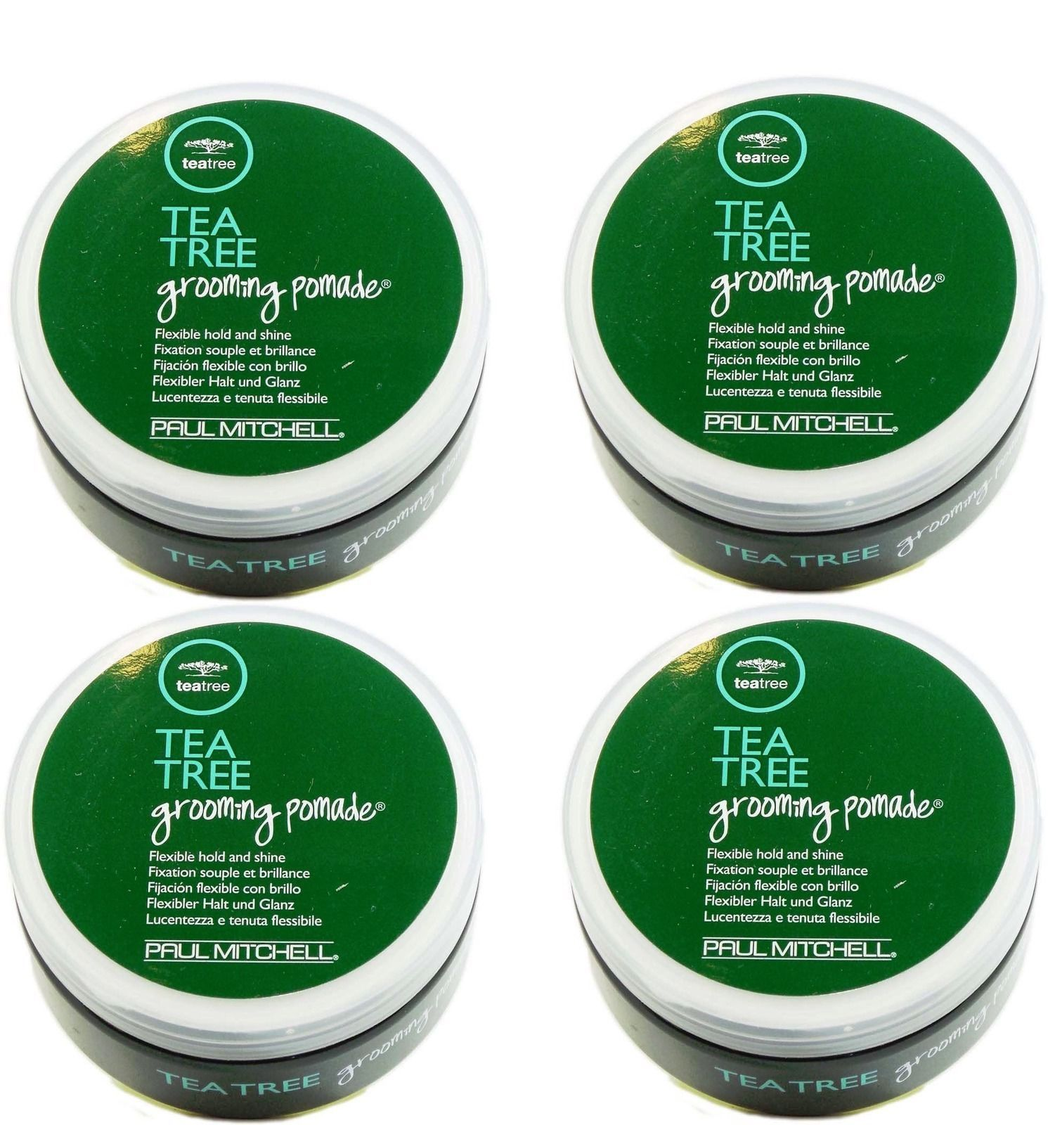 Styling Products: Paul Mitchell Tea Tree Grooming Pomade 3Oz Pack Of 4 BUY IT NOW ONLY: $52.99