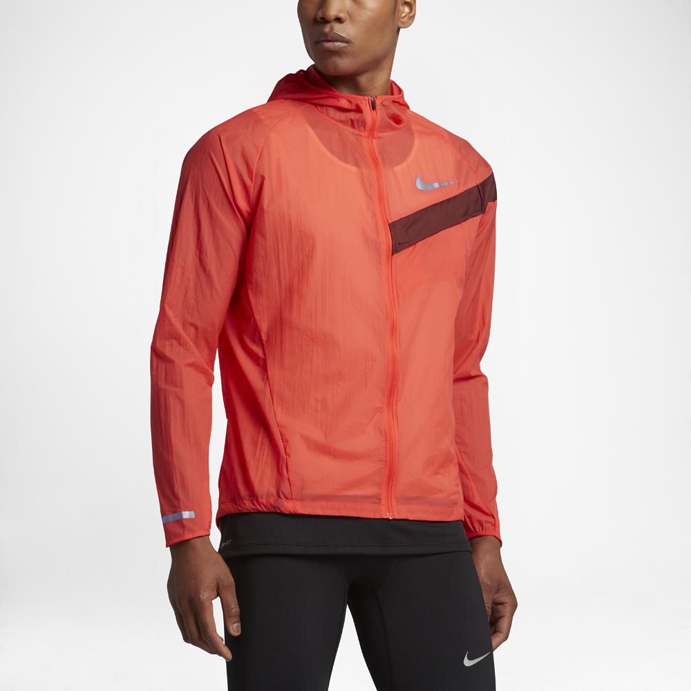 Nike Impossibly Light Men s Running Jacket Size Medium (Orange) - Clearance  Sale b553c4829715b