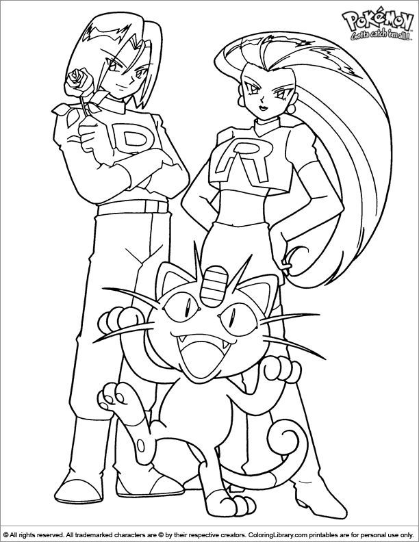 Image Result For Color James From Team Rocket Pokemon Coloring