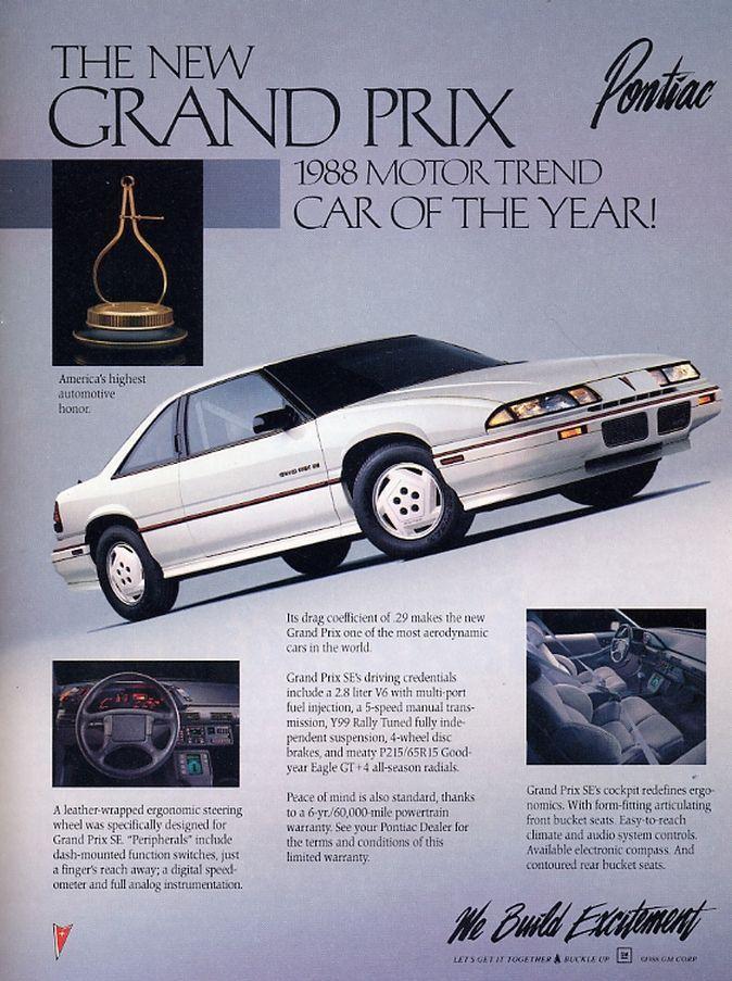 Directory Index Pontiac Oakland 1988 Pontiac Grand Prix Pontiac Car Ads