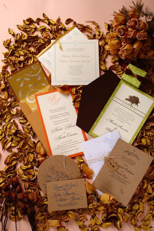 Invitaciones con aire retro. Tarjetas de Triana e Impresos Realce.