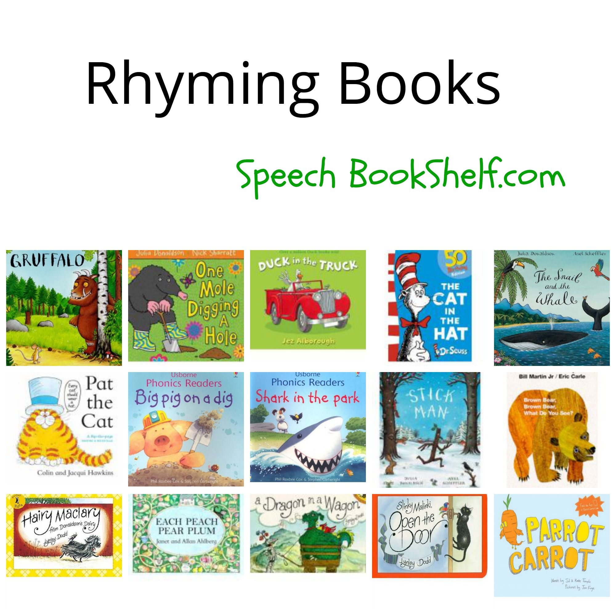 Rhyming Books To Develop Pa Skills Repinned By Sos Inc Resources Pinterest Sostherapy