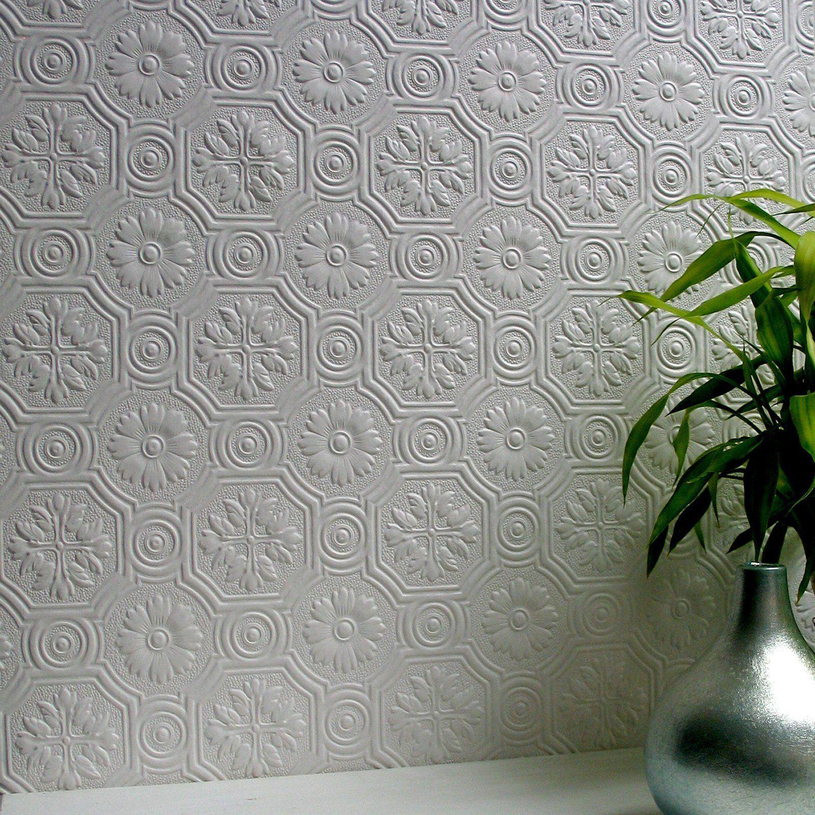 Brewster Spencer Paintable Supaglypta Wallpaper