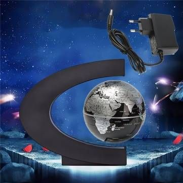C shape led world map magnetic levitation floating globe light home c shape led world map magnetic levitation floating globe light home decoration sale banggood gumiabroncs Images