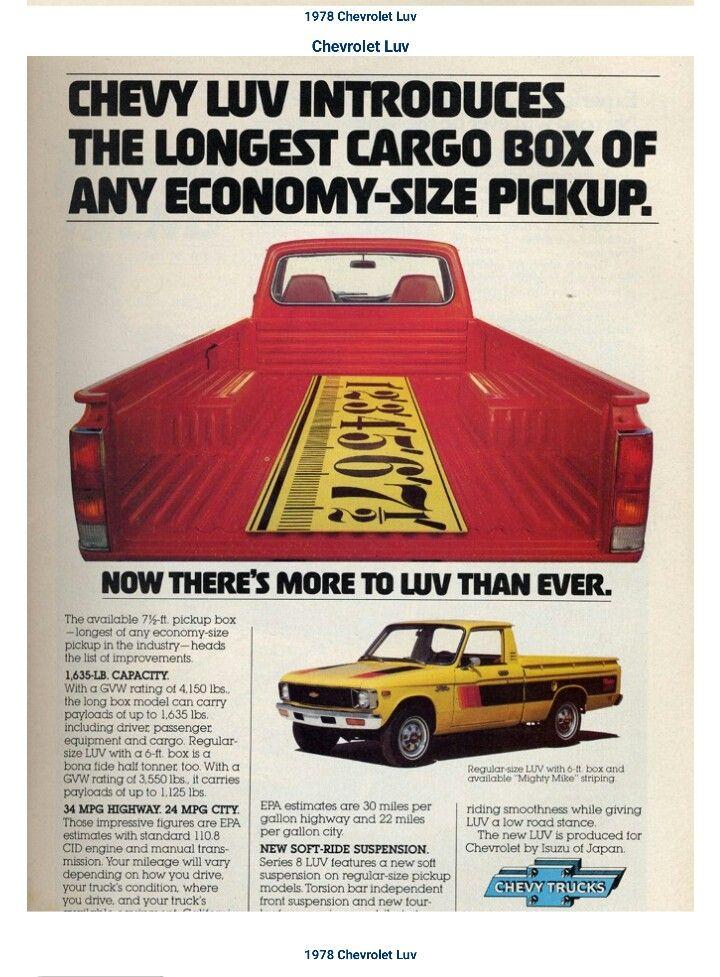 1978 Chevy Luv Vehicles Pinterest Vehicle