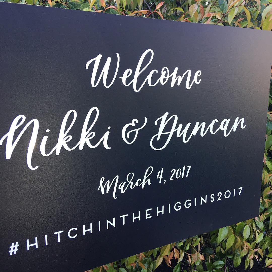 Wedding Welcome Sign / Chalkboard / White Vinyl Sign