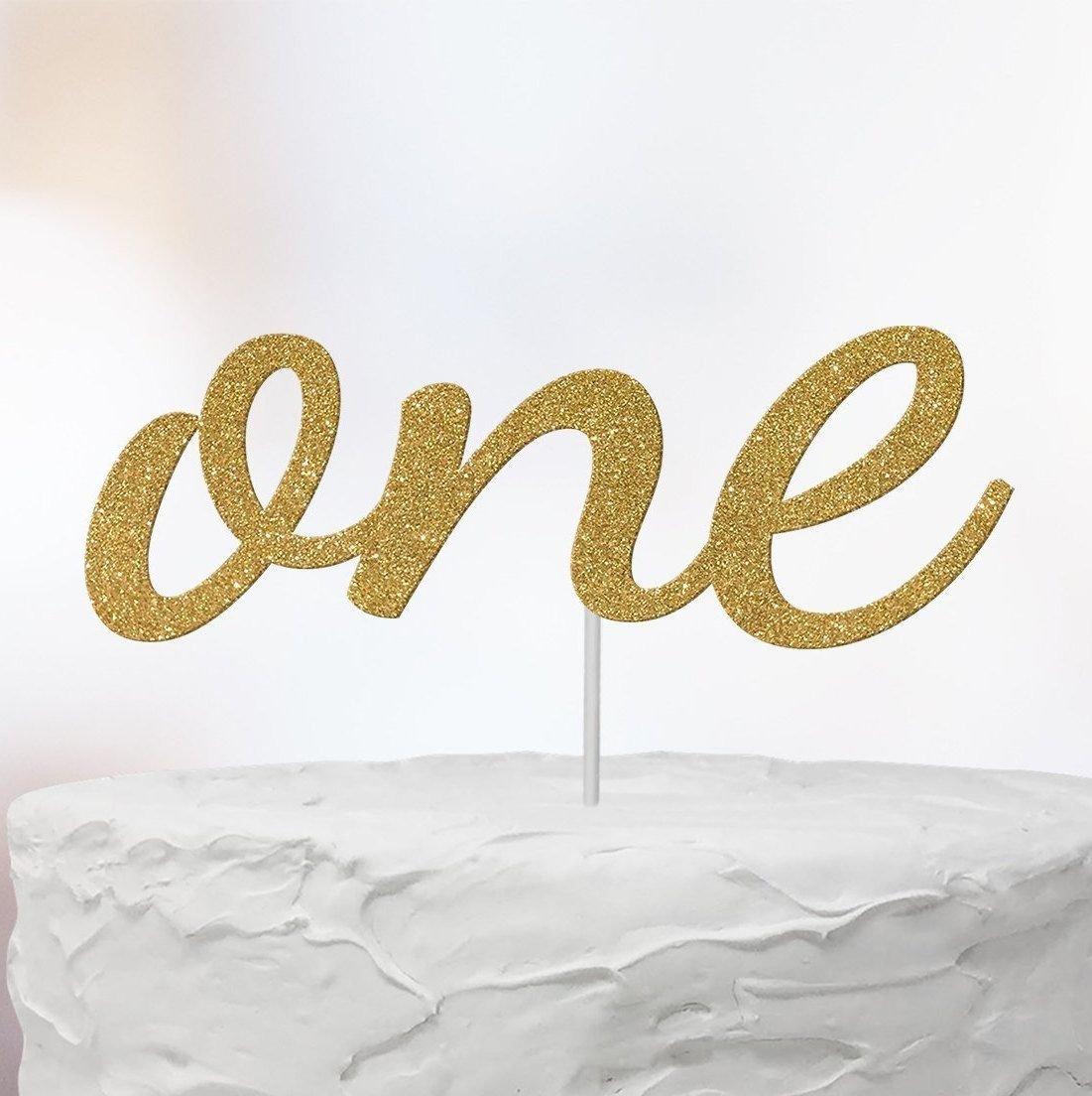 One cake topper first birthday cake topper center piece