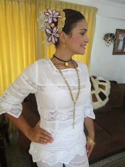 Chambra Vestidos Estilizados Panameños Vestidos Bordados
