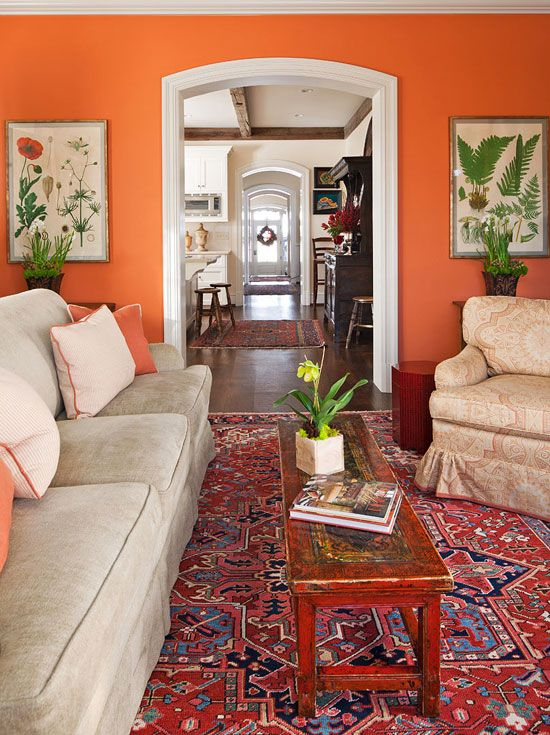 amazing orange green paint colors living rooms | Once Upon a Time in the West | Living room orange, Paint ...