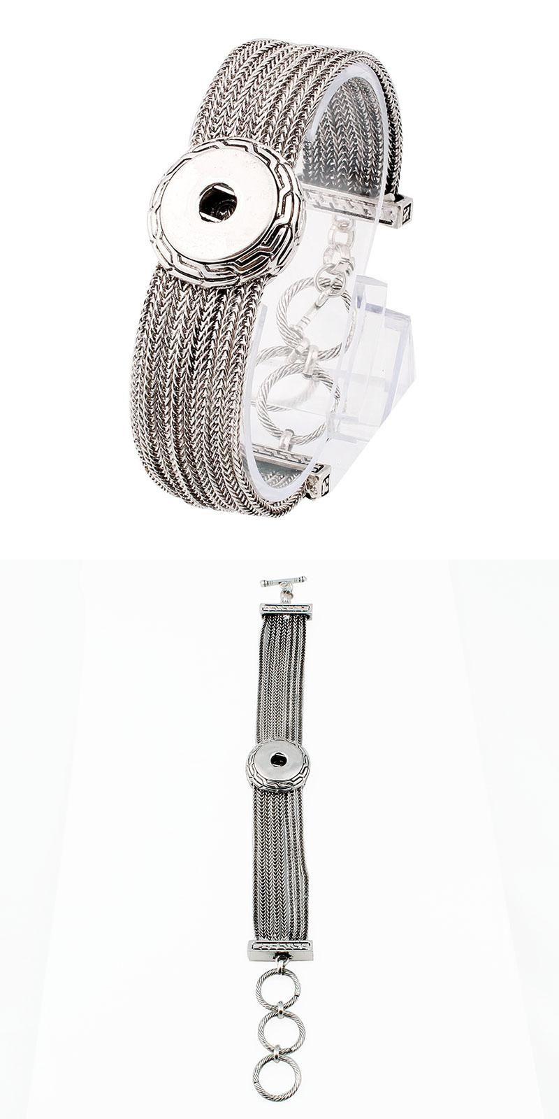 Visit to buy hot snap braceletubangles newest design antique silver