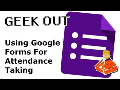 QR CODE ATTENDANCE TAKING WITH GOOGLE FORMS | Geek Out - YouTube