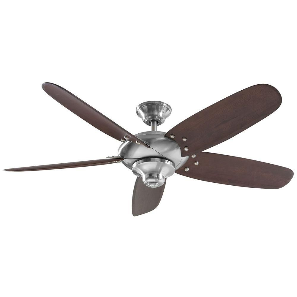 Home Decorators Collection Altura 56 In Brushed Nickel Ceiling Fan 26656 At The Depot
