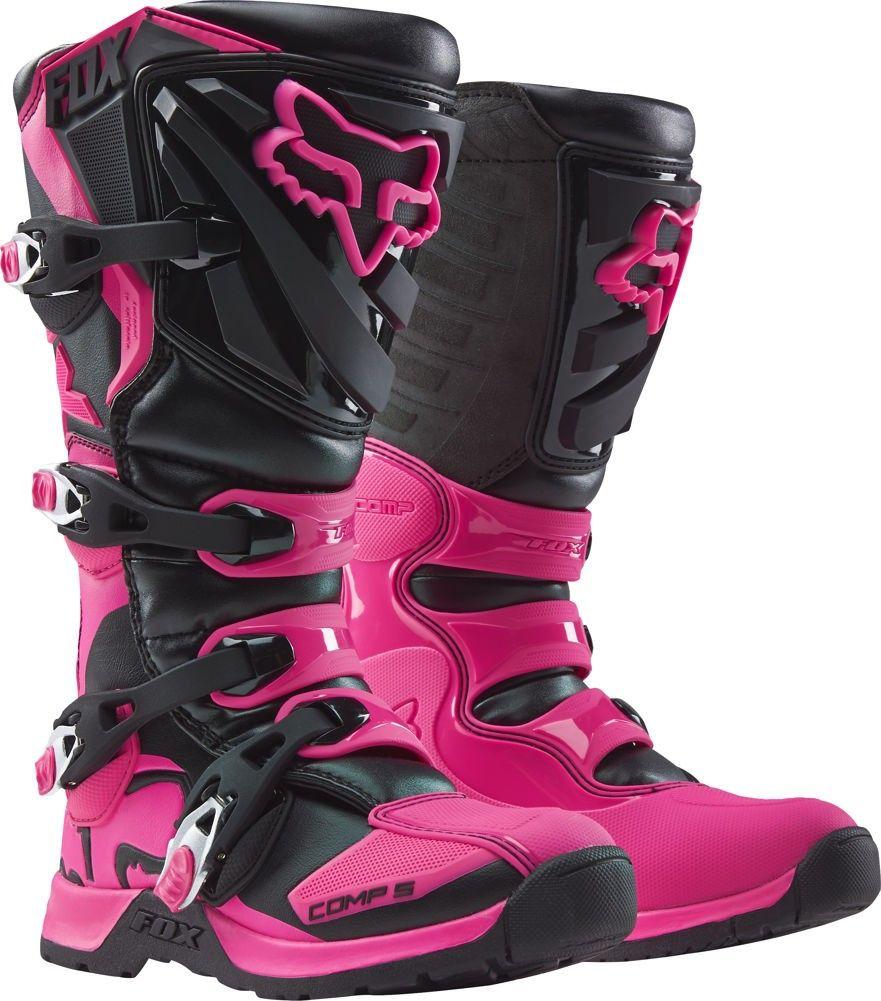 Fox Racing Comp 5 Girls Motocross Boots Dirt Bike Boots Racing Boots Bike Boots