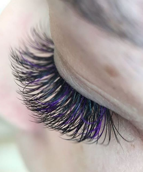 fa707e584bb #lashextensions #beauty. Find this Pin and more on Pop With Color Lashes ...