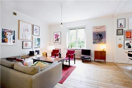 Woonkamer Inrichting Details : Gerenoveerde woonkamer met originele details