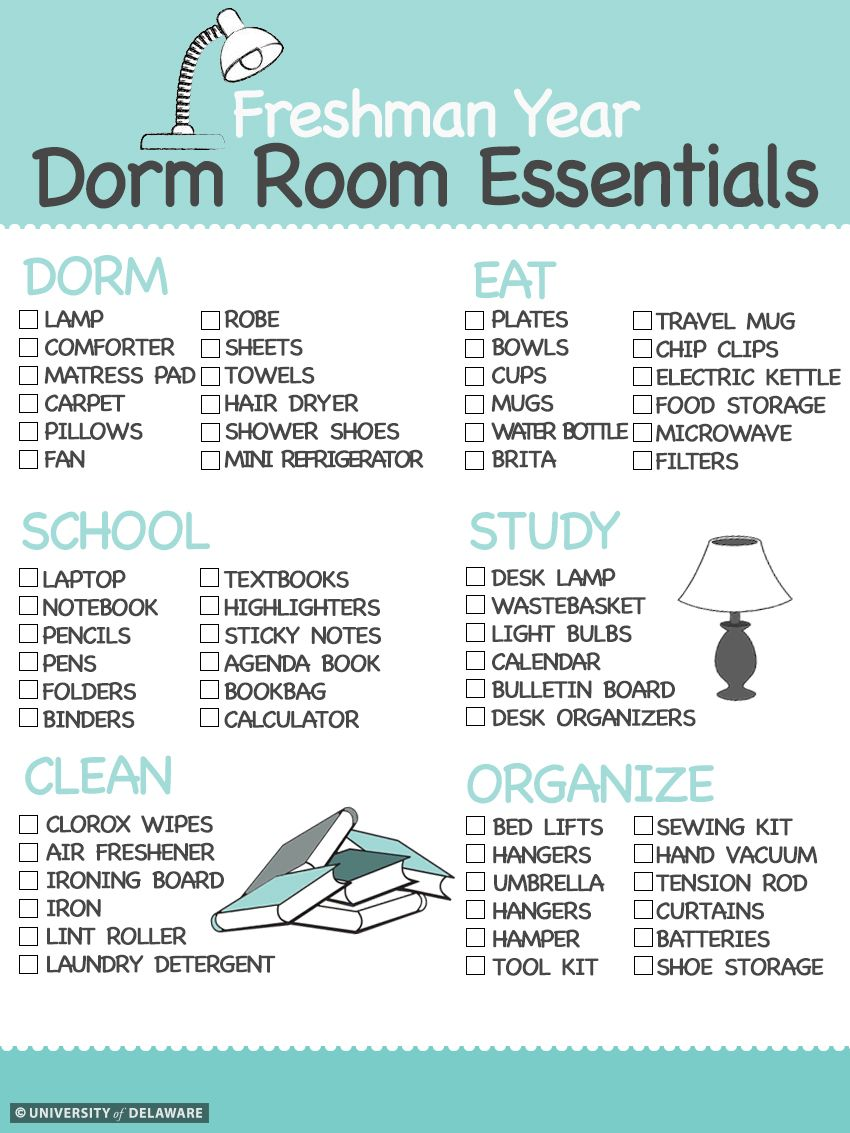 Are You A New Hen HereS A Dorm Room Essentials Checklist To Help