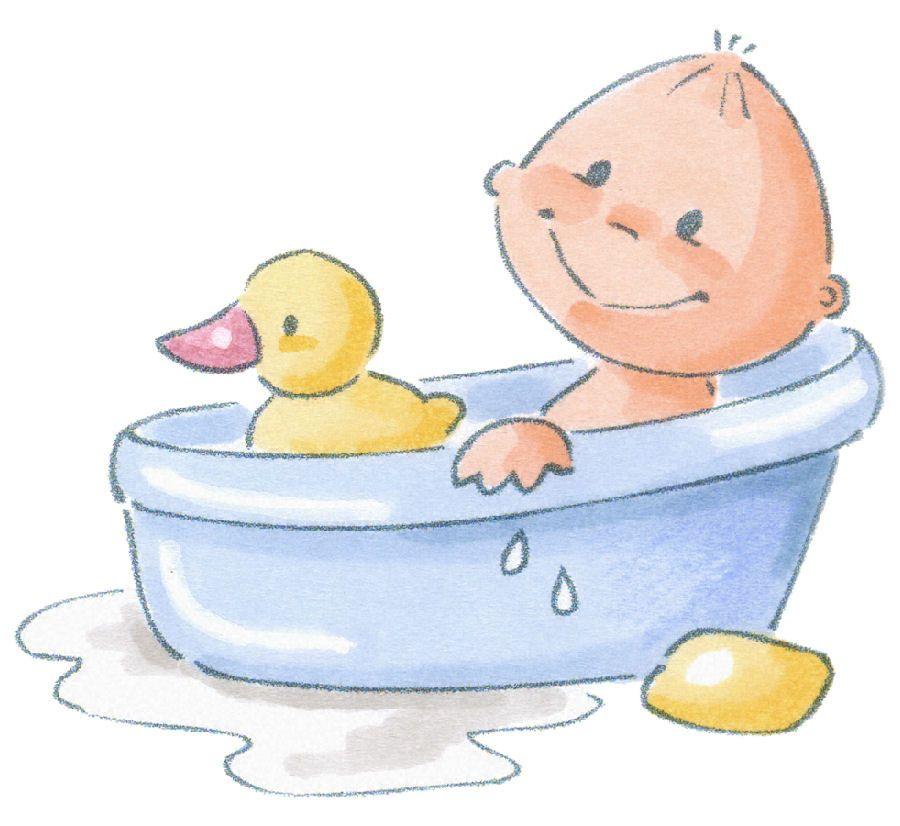 Baby In Tub Clip Art Bebes Hora De Bano Y Hora De Dormir